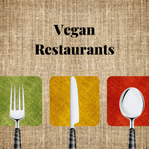 vegan restaurants, knife fork spoon on a table in a vegan restaurant in the uk, vegan restaurants within or near vegan hotels uk vegan B&B's and vegan guest houses