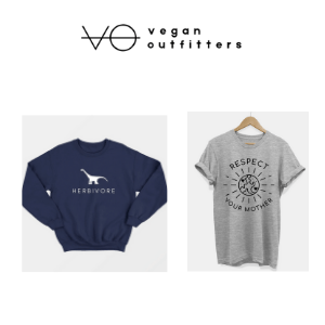vegan navy hoody and vegan grey t shirt respect your mother earth slogan, vegan clothes for men, vegan clothing brands, men's vegan clothing
